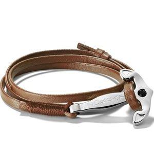 Zorata - Mens Brown Anchor Bracelet